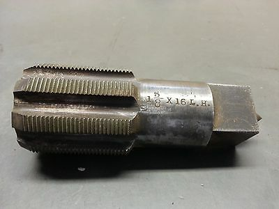 """USED 1-5/8"""" x 16  Tap LH 1"""" shank"""