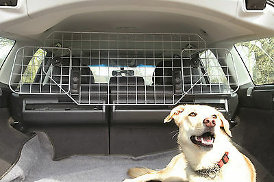 Summit Silver Metal Car Safety Wire Mesh Headrest Dog Guard Adjustable Barrier