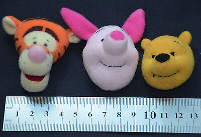 WINNIE THE POOH BEAR TIGGER & PIGLET SOFT TOY HEADS 1.5 INCH 4cm CRAFTS SEWING