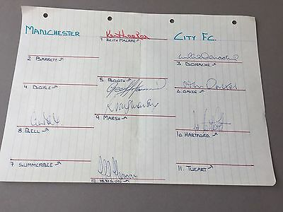 MANCHESTER CITY FC signed letter from the 1970's Football autographs