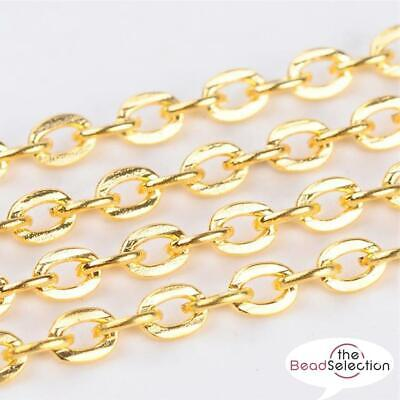 4 Mtrs GOLD PLATED FINE ROLO BELCHER CHAIN 3mm CH13