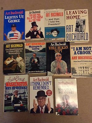 Art Buchwald Collection Lot of 11 Books Hardcover HB & PB Listen Up Leaving Home
