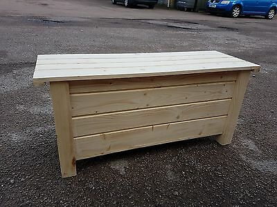 Very Large Wooden Trunk 100 cm Long of Solid Wood Spruce For Decoupage