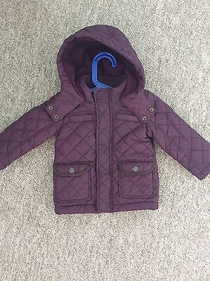 Baby Boy Quilted Jacket Coat 9-12 Months