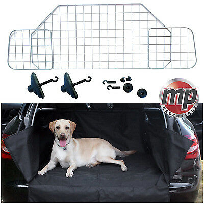 Summit Silver Pet Safety Mesh Headrest Dog Guard Barrier and Car Boot Liner Mat