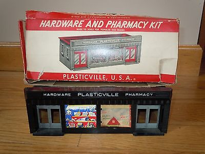 L@@k! ~Vintage~ 1950's Plasticville Usa Dh-2 Hardware And Pharmacy Kit With Box