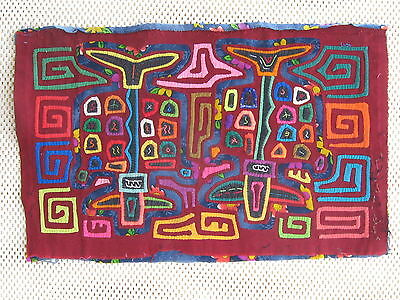 Kuna Tribe Quilt Mola No Space Remaining E.616