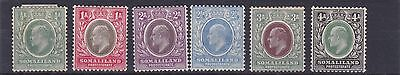 Somaliland  1905 - 11    S G 45 -50    Various Values To 4A  Mh