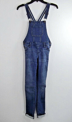 Justice Blue Distressed Girls Overalls Sz. 8