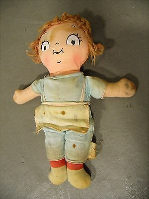 "Vintage ""The Campbell Kids"" Cloth Doll with Tag"