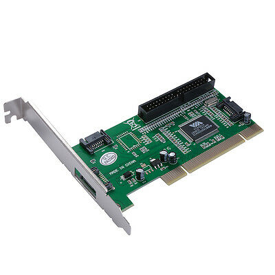 3 Port SATA + IDE PCI Controller Adapter Card for Hard Disk Drive Server AC388