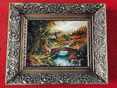 Original Signed Oil Painting With Exquisite Gilt Frame