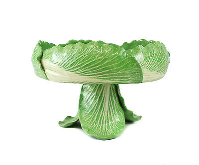 Dodie Thayer Lettuce Ware Footed Centerpiece Fruit Bowl Hand Crafted Earthenware