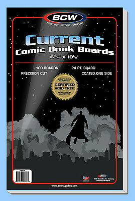 BCW: Comic Resealable Bags + Boards Combo:CURRENT Size:200each Ships FREE in USA