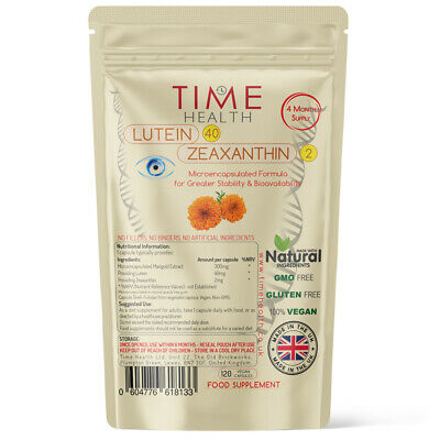 Lutein 40mg Zeaxanthin Natural Eye Health Protection Marigold Vegan UK