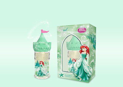 DISNEY, ARIEL, 50ml EAU DE TOILETTE,, in a Princess Castle Container.
