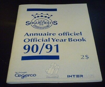 1990-91 Chicoutimi Sagueneens Official Year Book