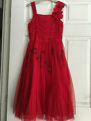 Girls Signature by Next Red Party Dress Age 11