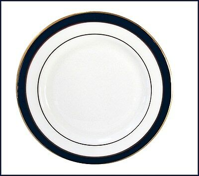 Lenox FEDERAL COBALT BLUE GOLD BREAD PLATE Set of 4 ~ NEW NEVER USED