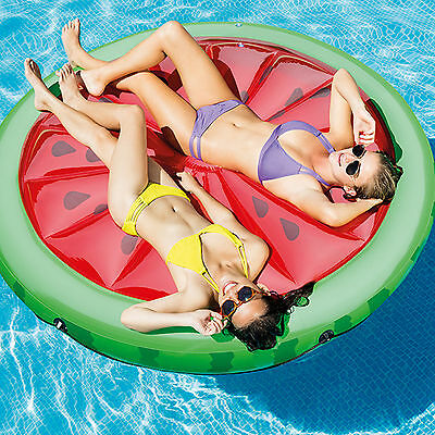 Intex Hinchable Sandía Tumbona Piscina Flotar Playa 2 Person Colchoneta