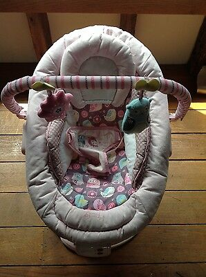 Baby Girl Pink Bouncer Chair, Comfort & Harmony by Bright Starts