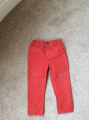 Next Red Chinos age 12-18 months