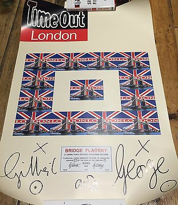 Gilbert And George - Signed Time Out Poster
