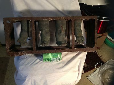 Industrial Factory Copper Doll Head Mold Rack Of Limbs,Steampunk,Altered Art