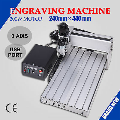 3040T 3 Axis CNC 3D Router USB Interface Engraving Machine Wood Engraver