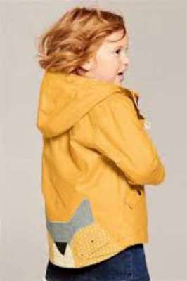 Next Girls Ochre Yellow Cat Appliqué Jacket Coat Sold Out 1.5-2 years  BNWT