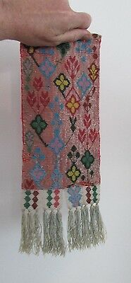 Antique (1940s ) Ojibwa Beaded Tobacco Bag Front