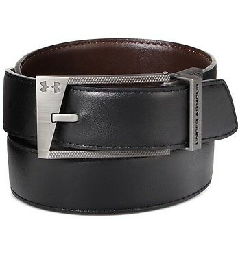 UNDER ARMOUR UA Men's Reversible Leather Golf Belt Black Brown Size 38