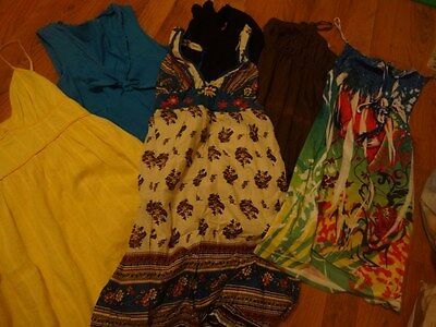 Lot of 6 Ladies Sleeveless, Halter & Thin Strap Dresses Cruise Size Small to Med