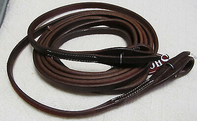 "Showman 1/2"" x 8ft Oiled Harness Leather Quick Change Split Reins New"