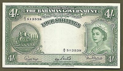 Bahamas Government ND(1953) 4 Shillings #3538