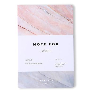 Pink A5 Marble Blank Notebook Korean Stationery Journal Planner Diary