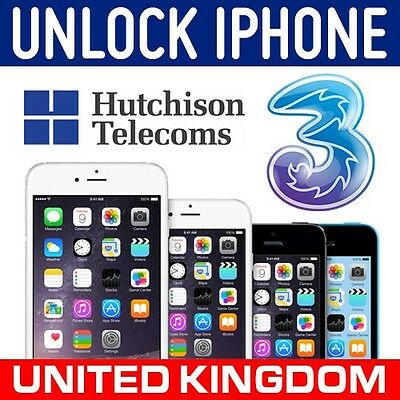 EXPRESS FACTORY UNLOCKING SERVICE FOR IPHONE 7 LOCKED TO 3 THREE UK CLEAN IMEIs