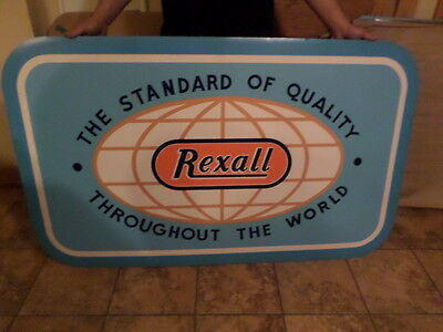 rexall drugs store sign cardboard..