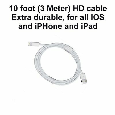 New 3 Meter Data Sync Cable Charging Cord For Apple iPad Air 2 Pro Air Mini 4