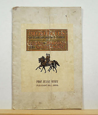 Prospectus of Correspondence Course in Riding and Training the Saddle Horse