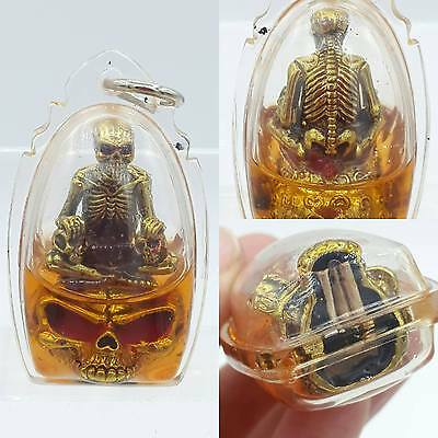 Prai Ghost Skull Hypnotizing Oil Thai Amulet Lucky Talisman Occult sorcery Magic