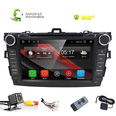 For Corolla Android 6.0 Car Radio GPS DVD Stereo Radio Touch Screen 8inch+Camera