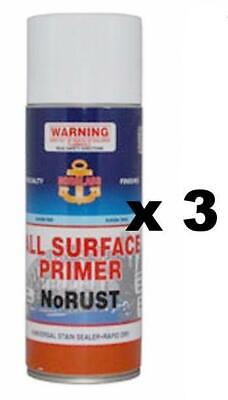 Norglass Marine NoRust Surface Primer 300g Universal Stain Sealer x 3