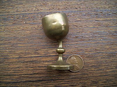 Vintage/antique Brass Angled Eye Wash Cup-Not Seen Often