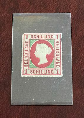 Heligoland Series 1867 1 Schilling Type 2 MH Stamp CV $40.00 & FREE GIFT