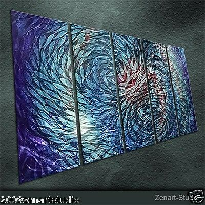 Origianl Metal Wall Art Abstract Painting Sculpture Indoor Outdoor Decor-Zenart