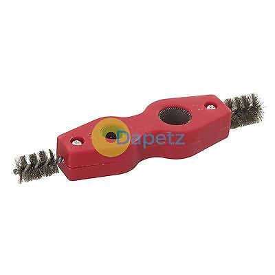 Pipe Cleaner & Deburrer 15 & 22mm Carbon Steel Brushes Professional Tool