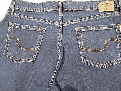 Levi's Signature Women's Jeans Size 16 Long Inseam 32 1/2 inches Boot Cut Dark