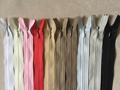 Invisible zips-BUY 2 GET 1 FREE- 8'10'16'18'20'22'24' FREE P&P ! woven concealed