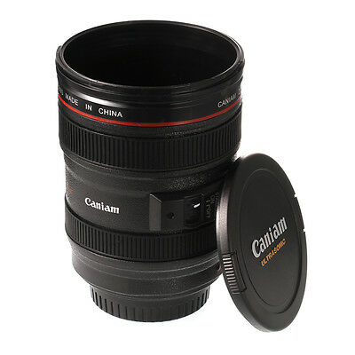Caniam DSLR Camera Lens Cup EF 24-105mm Coffee Tea Travel Mug Thermos Lens Lid